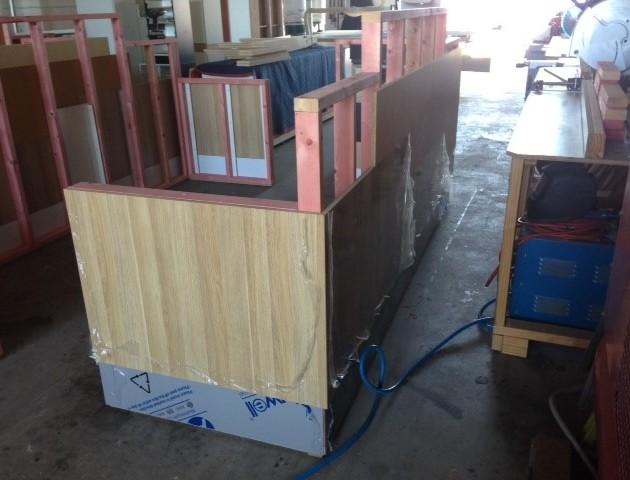 Construction of Angel Brows - halfway